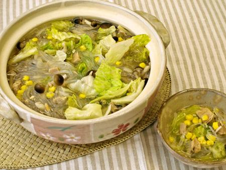 変わり鍋★ツナと春雨のつるつる鍋