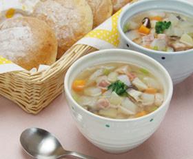 冷蔵庫すっきり★色々野菜の白だしスープ