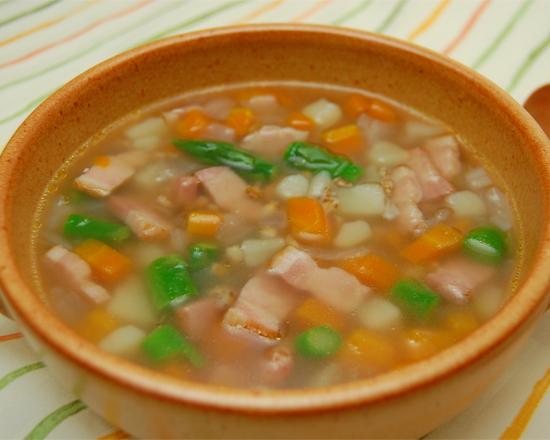 もち麦の野菜スープ♪