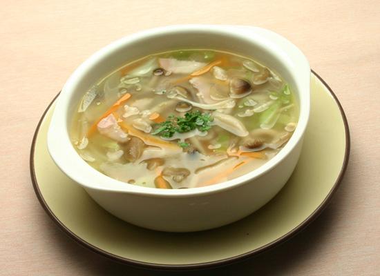 ヘルシー☆きのこの具沢山スープ