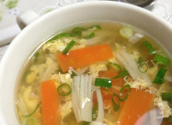 ねぎと生姜のポカポカスープ