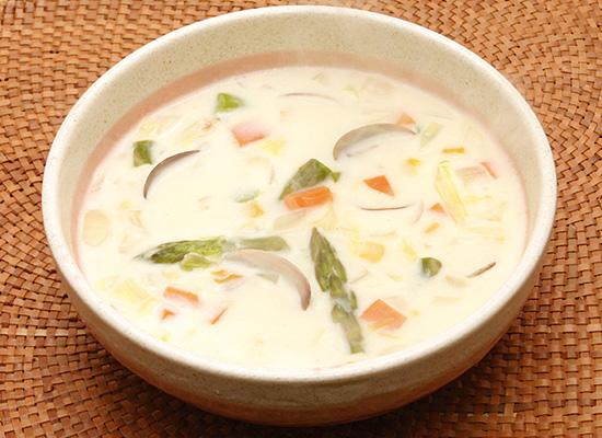 白だしと牛乳で★あさりのクリームスープ