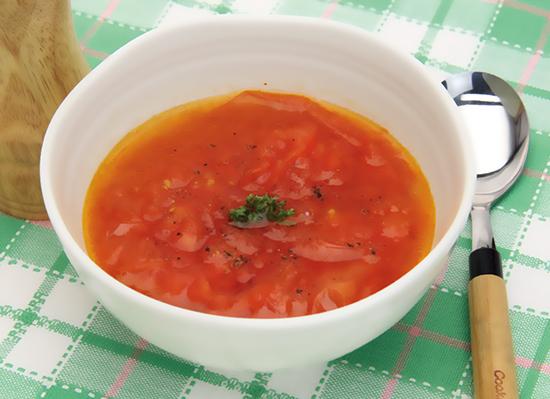レンジで簡単♪まるごとトマトのカップスープ