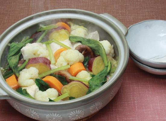 たっぷり野菜の蒸し鍋♪