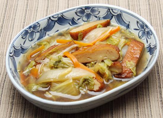 煮物だしで作る|白菜とさつま揚げの煮物|節約レシピ