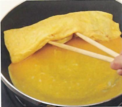 白だしで作る美味しい卵焼き:手順2