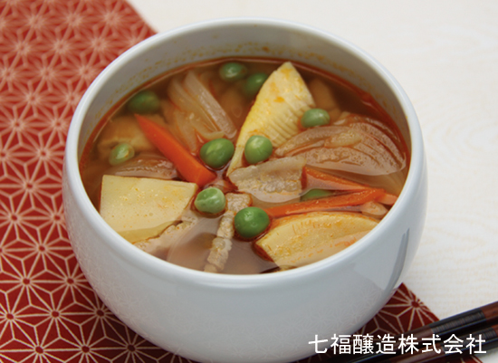 たけのこと新玉ねぎのスープ