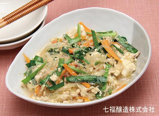 ご飯の進むおかず|豆腐と春雨の炒め煮