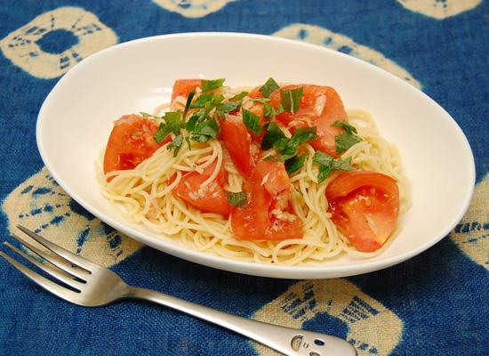 トマトとツナのカッペリーニ