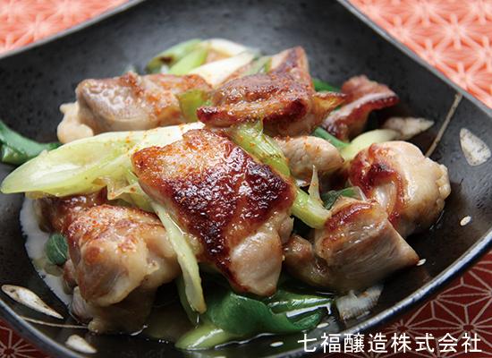 ねぎと鶏肉の和風炒め