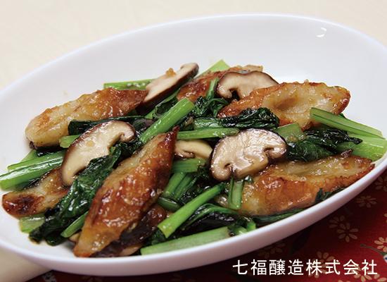 青菜とちくわの中華風炒め