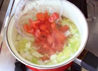 たっぷり野菜の白だしスープ:手順1