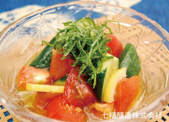 トマトきゅうりのレモンマリネ風
