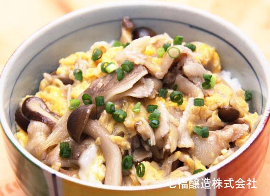 親子丼の素で作る|きのこたっぷり秋の味覚丼
