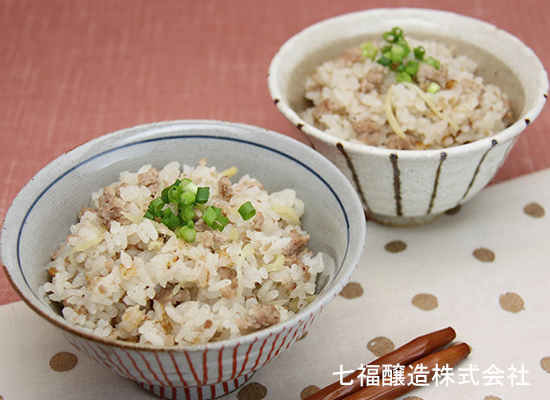 豚ひき肉と生姜の炊き込みご飯