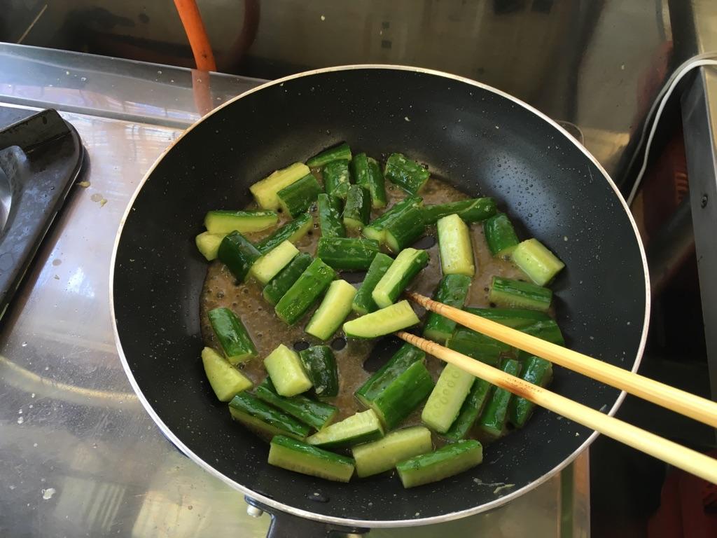 きゅうりの生姜炒め:手順1