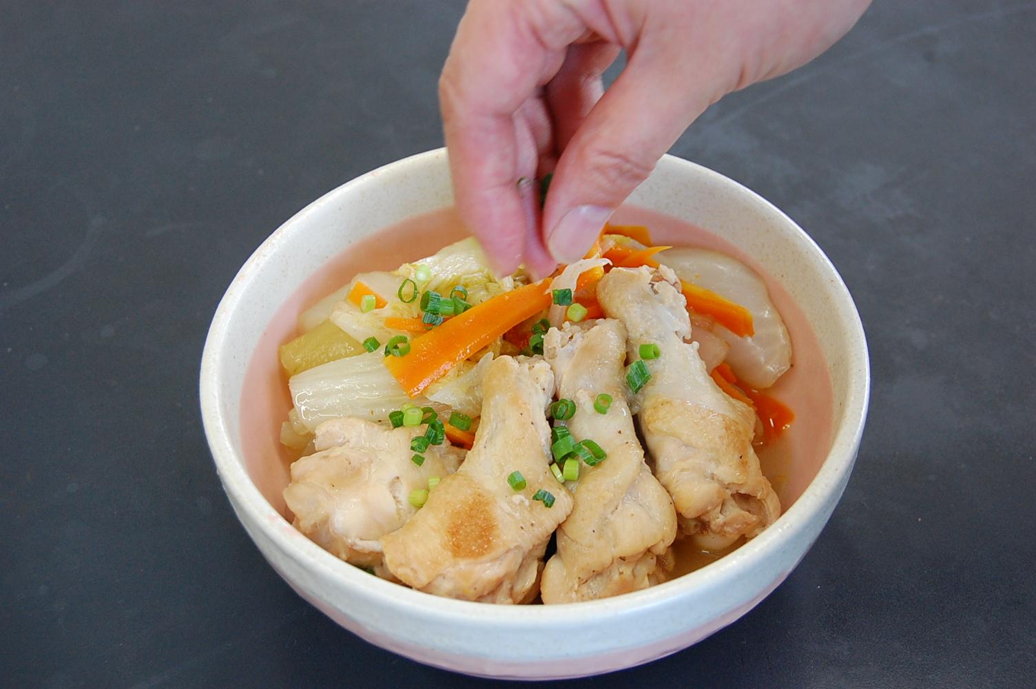 手羽元と白菜の煮込み:手順3