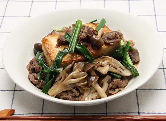 煮物だしで|豆腐のすき煮