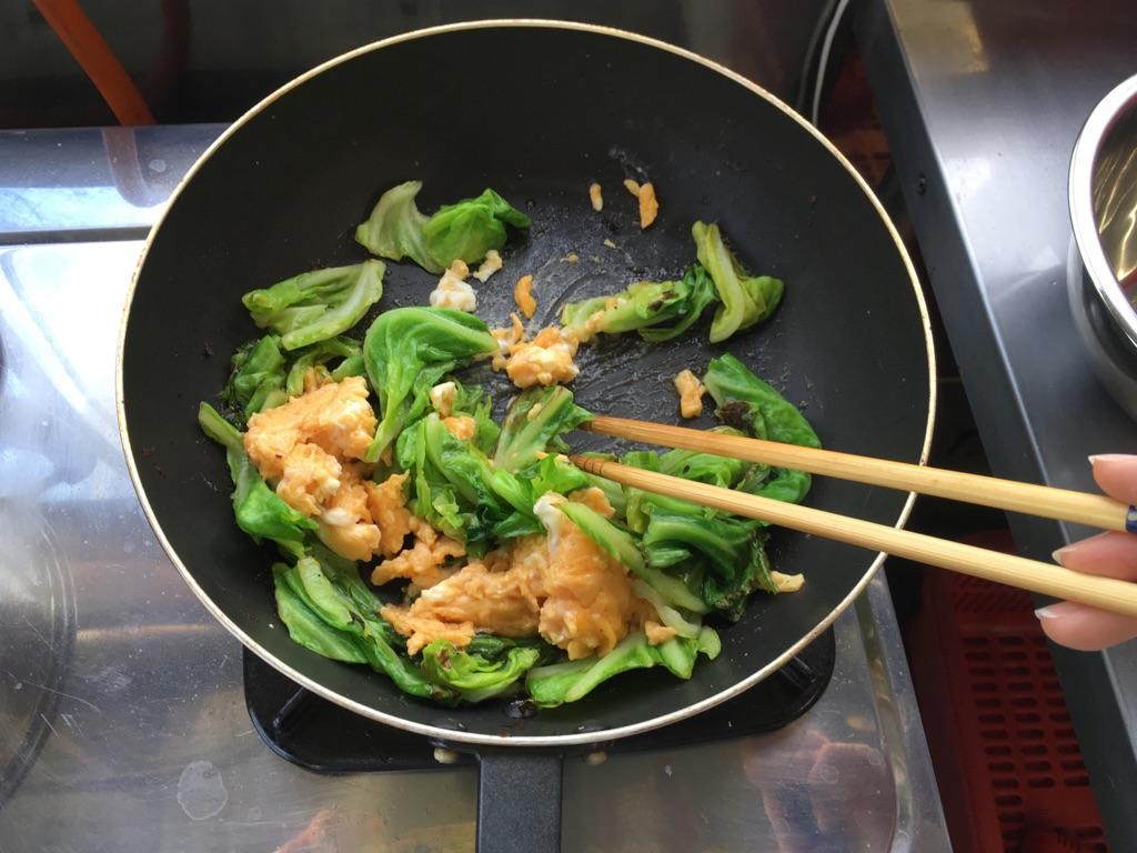 春キャベツと玉子のとろみ炒め:手順3