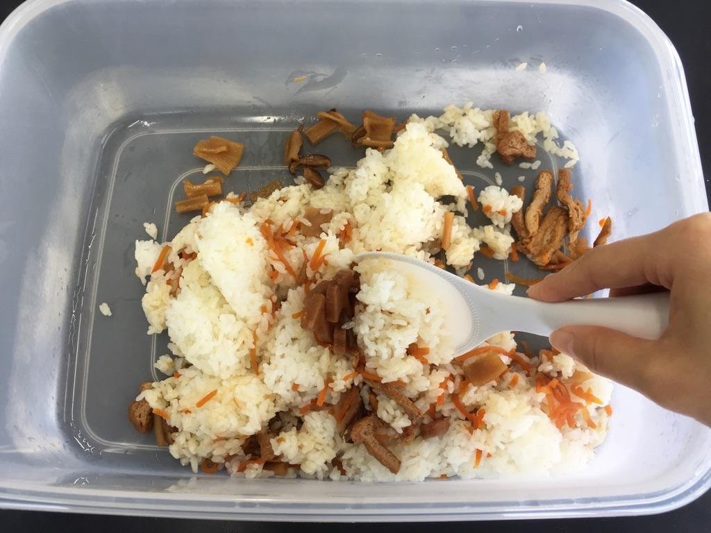 菜の花と玉子そぼろの手まりちらし寿司:手順0