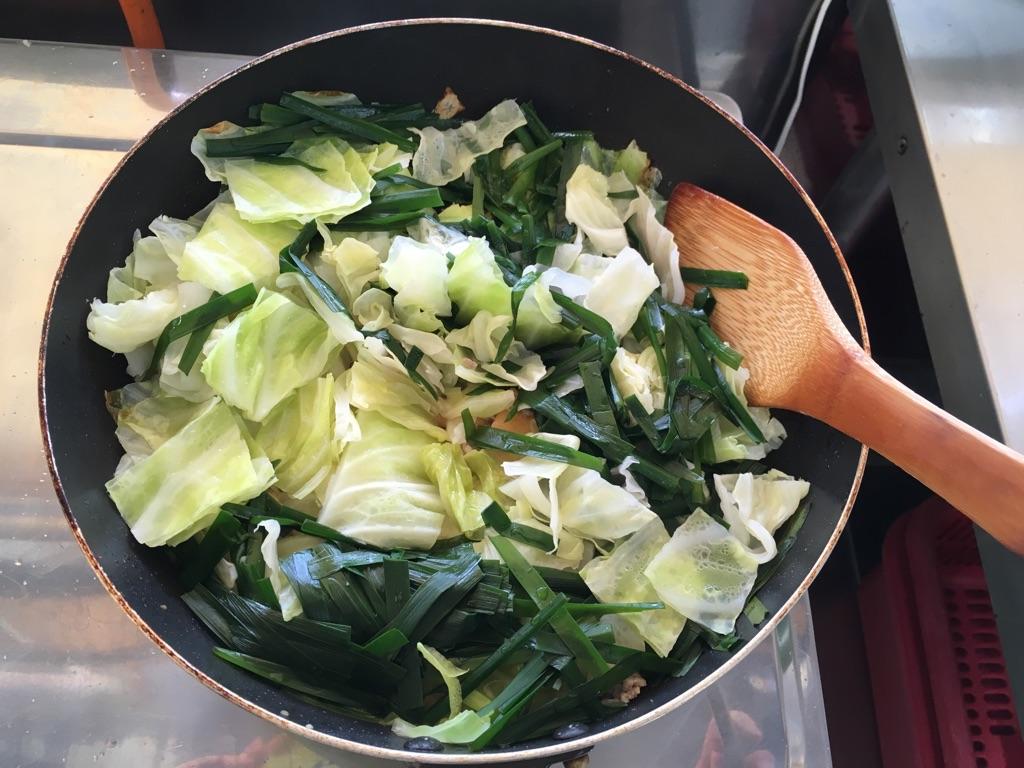 厚揚げのそぼろ野菜炒め:手順2