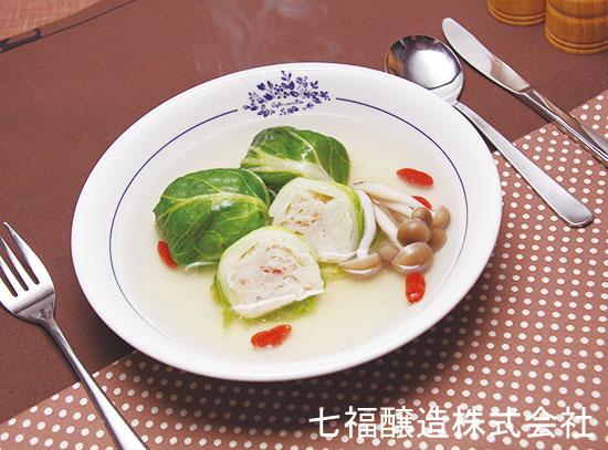 スープまで美味しい♪シュウマイでロール白菜