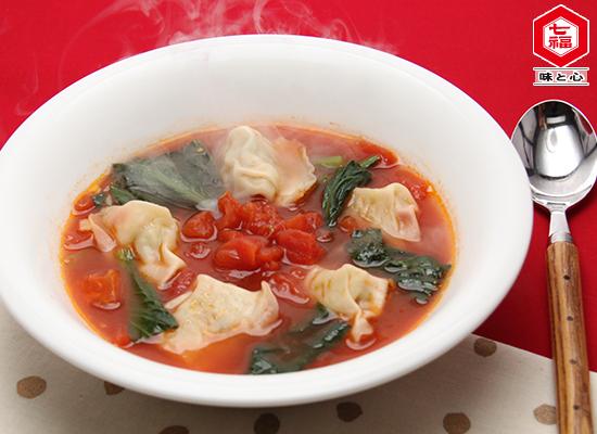餃子のトマトスープ