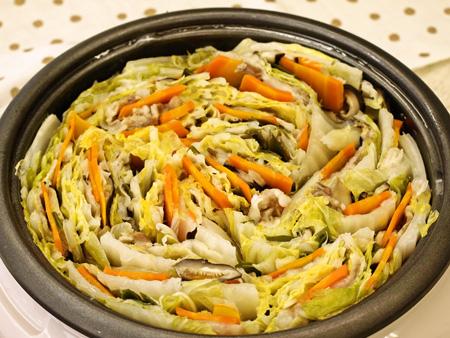 白菜のミルフィーユ鍋♪