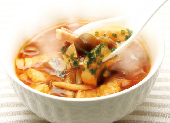 きのこたっぷり♡洋風トマトスープ