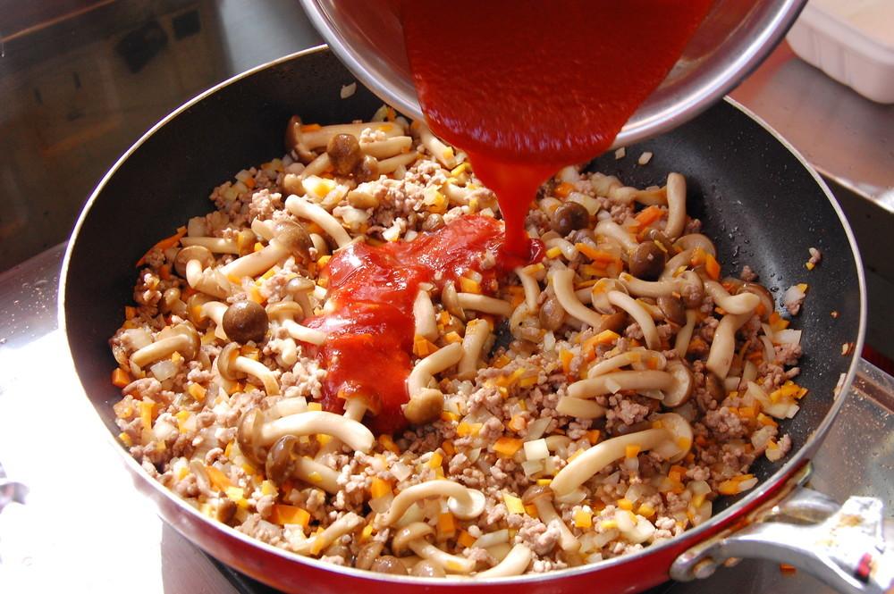 なすとひき肉のラザニア風グラタン:手順2