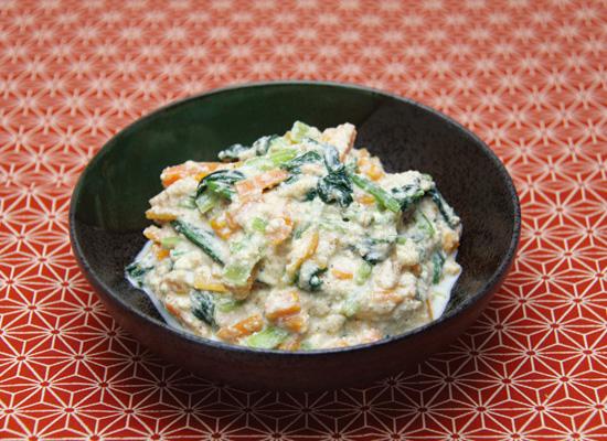 優しい味の豆腐の白和え