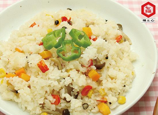 菜食レシピ★炊飯器でカンタン♪野菜ピラフ