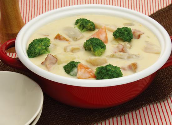 ほくほく♪根菜のクリーム鍋