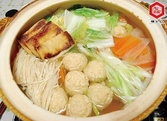 もちもち鶏団子の柚子胡椒鍋