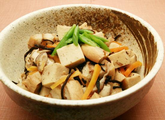 車麩と高野豆腐のひじき煮