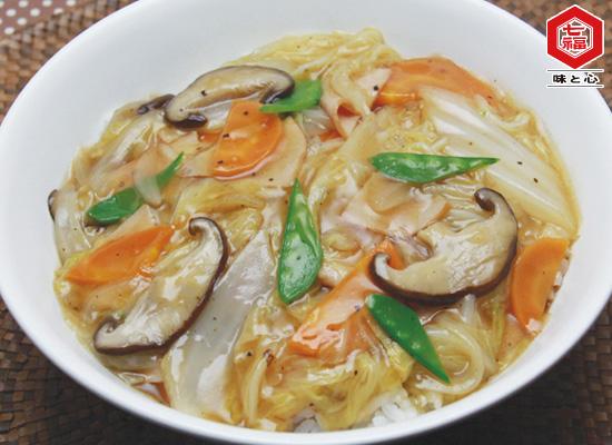 ~煮物だしで簡単♪白菜の中華風あんかけ丼