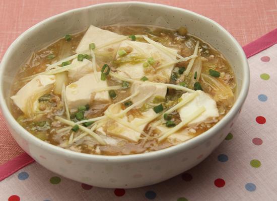 豆腐でしっかりおかず!鶏ひき肉のとろとろ豆腐