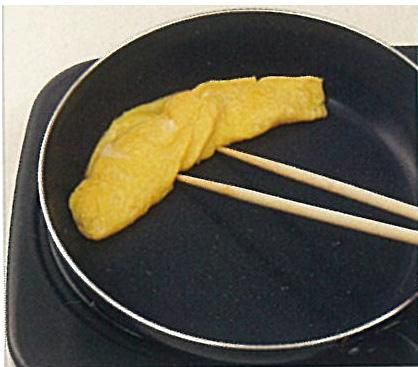 白だしで作る美味しい卵焼き:手順1