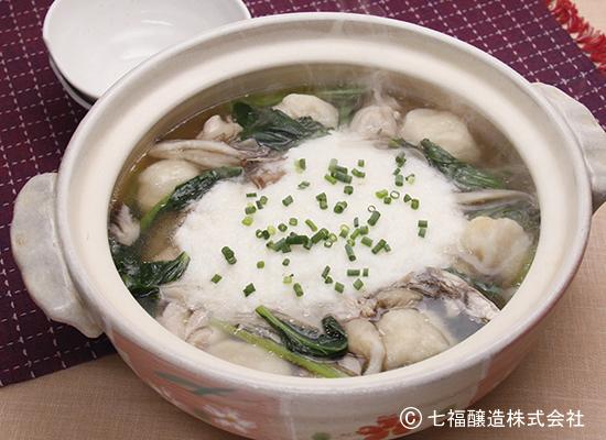 もちもち食感|豆腐団子のとろろ鍋