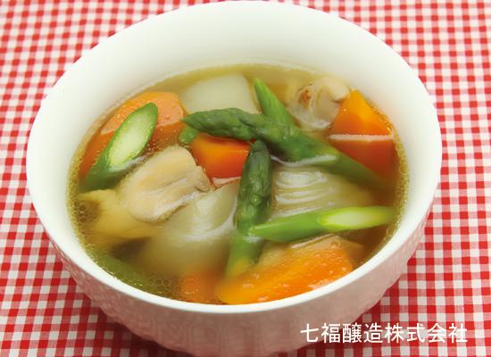 鶏肉とアスパラのスープ