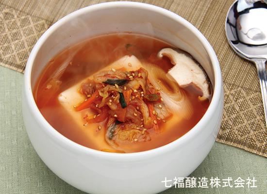 レンジで簡単|ピリッと美味しいキムチと豆腐のスープ