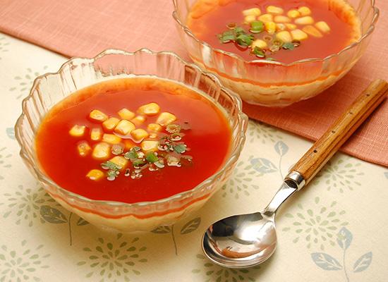 電子レンジでカンタン♪トマトの冷やし茶碗蒸し
