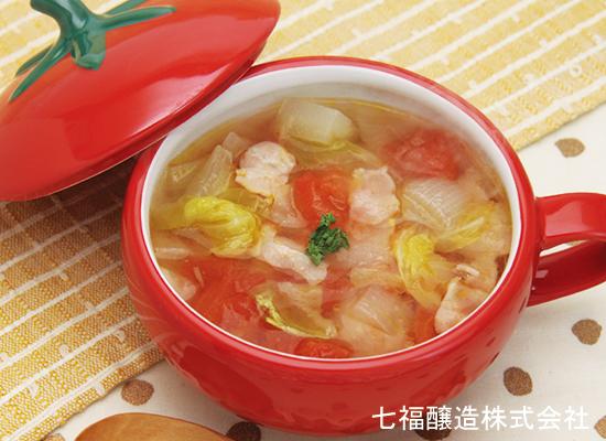 たっぷり野菜の白だしスープ