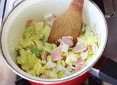 たっぷり野菜の白だしスープ:手順0