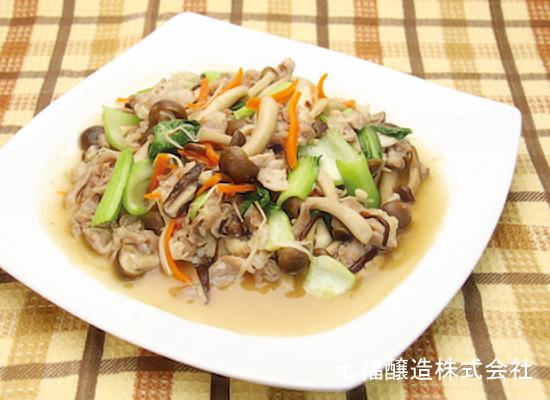 白だしで作る│チンゲン菜と豚肉の生姜炒め