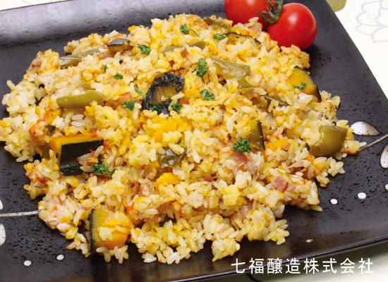 夏野菜の洋風炊き込みご飯