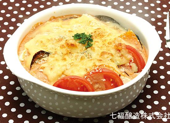 お豆腐と夏野菜のオーブン焼き