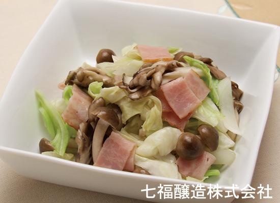 レンジで簡単|キノコとキャベツの蒸し野菜