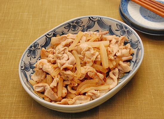 大根と豚肉のさっぱり炒め