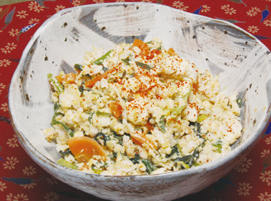 小松菜の炒り豆腐